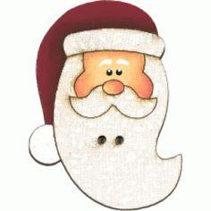 Botão de mdf forrado com tecido de Noel barba comprida cor 301