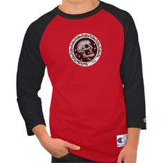 Skulls Red & White #skull #skulltshirt #zazzle http://www.zazzle.com/monstersandthings?rf=238806092629186307