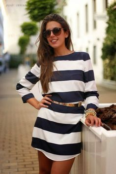 Summer Fashion Trend Alert, Striped Dresses and Gold Accessories