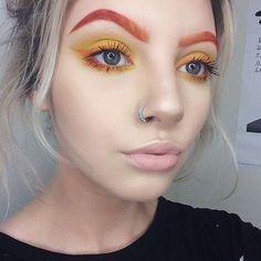 Eyebrows: @maccosmetics pro chromaline in orange @limecrimemakeup velvetine in 'pumpkin'  Eyes: @illamasqua eyeshadow in 'hype' eyeliner: @maccosmetics orange chromaline   #illamasqua #limecrime #mac #maccosmetics #nars #toofaced #heatherlinesmua #pennold #makeupartistry #creativemakeup #urbandecay #makeupforever #sigma #wakeupandmakeup #dressyourface #myartistcommunity #londonmua #smashbox #bleachbrows #bleachedbrows #anastasiabeverlyhills #thebalm #nyx #nyxcosmetics #pumpkin #velvetine...