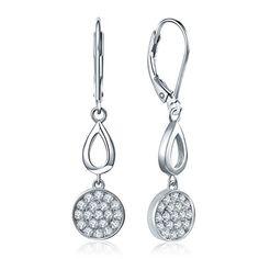 Sterling Silver /& OR 18K PLAQUE Feather Design Drop Dangle Boucles d/'oreilles Argent 925