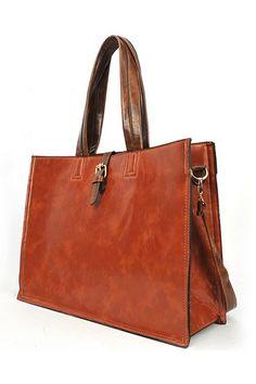 cb914738a51d Simple Brown Faux Sheepskin Shoulder Bag OASAP.com    gt  love this  but