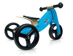 Kinderfeets Wooden Balance Bike and Tricycle in One