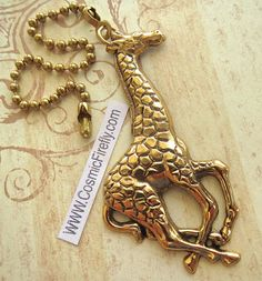 Hey, I found this really awesome Etsy listing at https://www.etsy.com/listing/191258613/big-giraffe-fan-pull-steampunk-ceiling