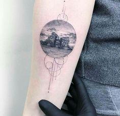 beach landscape tattoo on the left inner forearm children tattoos