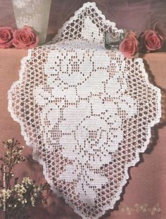 Home Decor Crochet Patterns Part 148 - Beautiful Crochet Patterns and Knitting Patterns Crochet Dollies, Crochet Doily Patterns, Lace Patterns, Thread Crochet, Crochet Designs, Crochet Table Runner, Crochet Tablecloth, Unique Crochet, Beautiful Crochet