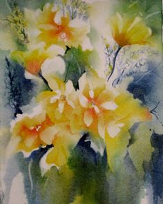 Watercolor Painting Flower Print Abstract Art by NancyKnightArt, $20.00