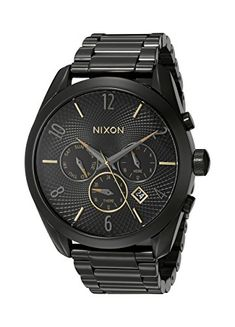 Women's Wrist Watches - Nixon Womens A3661616 Bullet Chrono Analog Display Analog Quartz Black Watch ** Find out more about the great product at the image link.