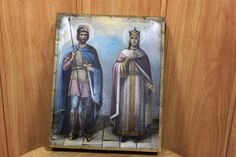 Orthodox icon holy martyrs IOAN and ALEXANDRA (John and Alexander) 22.5х18.5 cm