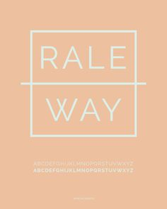 Raleway font. Mooi in combinatie met Amatic SC.