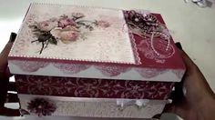 Caixa com papel textura - Lívia Fiorelli