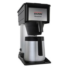 BUNN Velocity Brew Black Residential Drip Coffee Maker at Lowe's. The BUNN BT Velocity Brew Thermal Carafe Home Brewer features a unique sprayhead to ensure an even, complete coffee flavor extraction. For better Coffee Maker Reviews, Best Coffee Maker, Drip Coffee Maker, Thermal Coffee Maker, Tabletop, Bunn Coffee, Best Espresso Machine, Coffee Store, Coffee Accessories