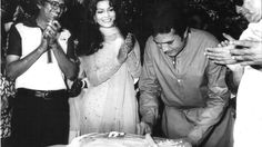 Rajesh Khanna  Zeenat Aman on the sets of Janwar