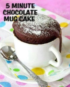 Chocolate cup cake in 5 minutes!