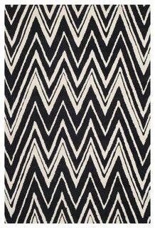 Safavieh Handmade Moroccan Cambridge Zigzag-pattern Black/ Ivory Wool Rug - $150 - TJ Maxx un sq. 6x6