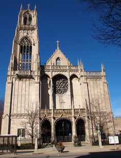 The Roman Catholic church at N. Broadway and W. Catalpa Ave. was organized in 1900 and moved into its Bedford limestone structure in 1927. The architect was Henry Schlacks. It seats 700.