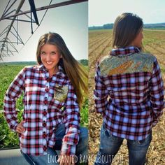 Red Plaid Sequin Top. Click link attached to order.