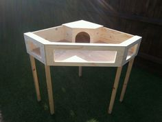New design large corner tortoise table with legs viewing windows