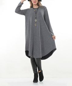 This Navy Contrast Tunic - Plus is perfect! #zulilyfinds