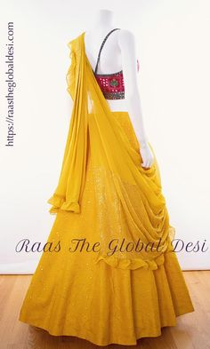 LEHENGA ONLINE USA Give yourself a versatile look by wearing this georgette lehenga choli featuring lucknowi work lehenga and hand work blouse Party Wear Indian Dresses, Indian Gowns Dresses, Indian Bridal Outfits, Party Wear Lehenga, Indian Bridal Fashion, Indian Fashion Dresses, Dress Indian Style, Indian Designer Outfits, Designer Dresses