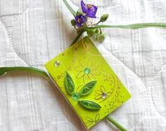 Tiny cards for bouquets