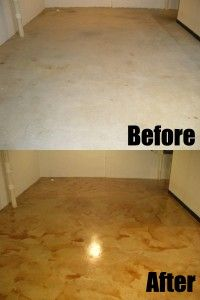 Basement Floor Stains Or Finishes | Make Your Old Basement Look New with Concrete Stain - DirectColors.com