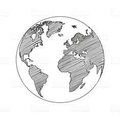 How to draw world globes with easy step by step drawing tutorial carte du monde monde croquis vectoriels cliparts vectoriels libres de droits gumiabroncs Image collections