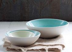 Modern Porcelain Nesting Bowl Ceramic Serving Set, etsy