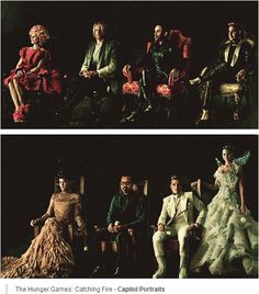 I love how the tributes are looking at the camera and the capitol people aren't