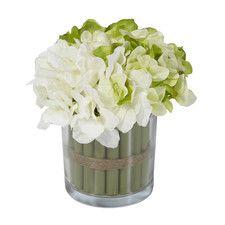 Hydrangea Bouquetin Glass Vase