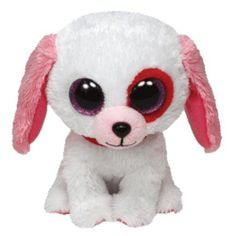 Ty Darling the White Puppy Dog Animal Beanie Boos Stuffed Plush Toy