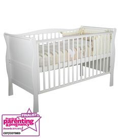 Buy your Kiddicare.com Sleigh Cotbed - White Including Pack 55 reviews from Kiddicare Cot Beds With Foam Mattress| Online baby shop | Nursery Equipment