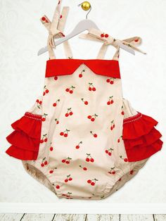 Baby sewing pattern for romper sunsuit PDF by MyChildhoodTreasures, $7.50