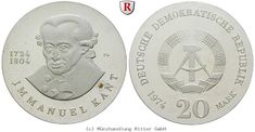 RITTER DDR, 20 Mark 1974, Kant, J. 1549, PP #coins #numismatics