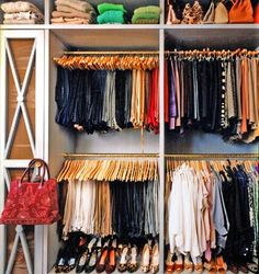 highly organized closet & everything looks better organized!