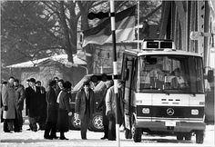 An exchange of prisoners and spies on the Glienicke bridge outside Berlin in 1986. The Soviet Jewish dissident Anatoly Shcharansky (now known as Natan Sharansky) was the first prisoner exchanged.- Heribert Proepper/Associated Press.