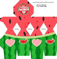 Watermelon Birthday Parties, Diy And Crafts, Paper Crafts, Disney Mickey Mouse, Silhouette Projects, Print And Cut, Box Design, Holidays And Events, Lily