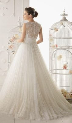 lace back wedding dress - Google Search