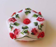 Roses biscornu by Antonina Taskaev
