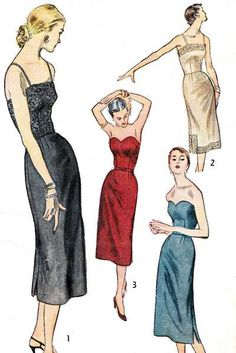1951 Misses Sheath Dress and Slip Pattern by DawnsDesignBoutique, $27.00