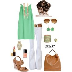 Mint and white.