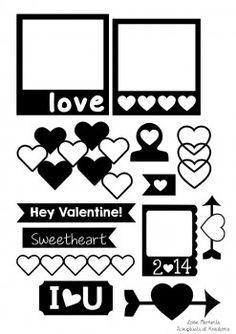 Love Elements-Everyday Tags, Die Cut Tags, Project Life Cutting files, Valentine's Day SVG cutting Files, Valentine Cutting Files, Love cutt...