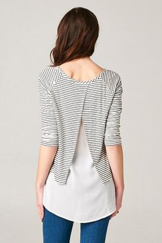 Milla Top in Classic Stripe | Women's Clothes, Casual Dresses, Fashion Earrings & Accessories | Emma Stine Limited