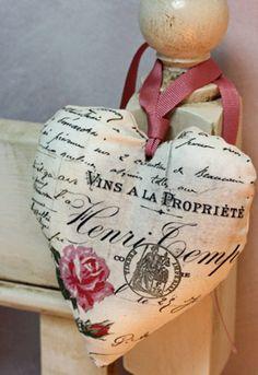 corazon mueble fabric heart                                                                                                                                                                                 Más