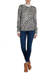 Adding this leopard #equipmentfr sweater to my gifting wishlist.