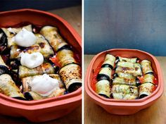 Ricotta Stuffed Eggplant Rolls - tried theese and are super easy to make and delicious too! @Ruxandra Iancu Iancu Micu