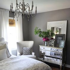 We're inspired by this beautifully styled bedroom by @Jennifer Crotty Holmes - Dear Lillie! #HomeGoodsHappy #glam via Instagram