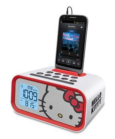 This Hello Kitty Dual Alarm Clock by Hello Kitty is perfect! #zulilyfinds
