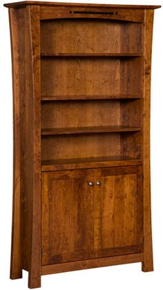 "Amish Outlet Store : Arts & Crafts 72"" Bookcase w/Doors in Oak"
