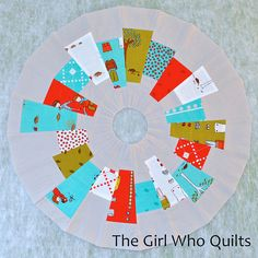 Modern Dresden Plate Tutorial by thegirlwhoquilts, via Flickr